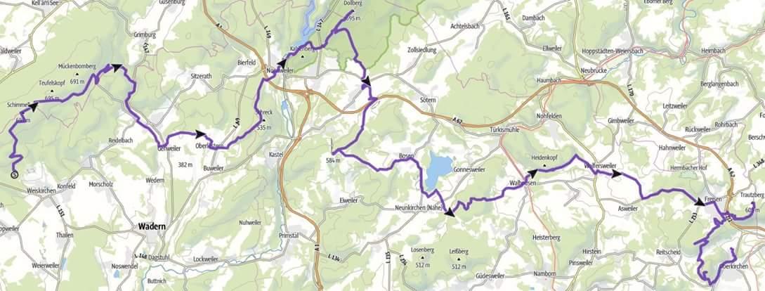 Karte 7 Summits